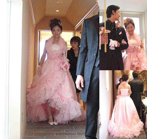 ウェディングドレスからカラードレスに変身する2wayスタイルドレス