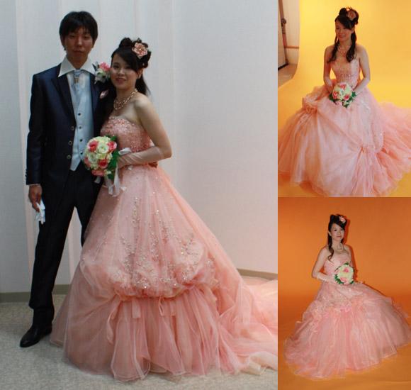 結婚式 お色直し ピンク